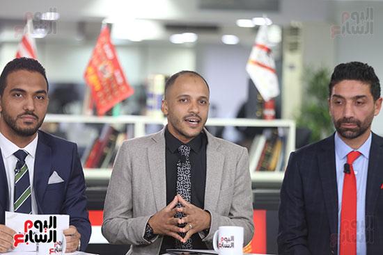 أجواء احتفالية داخل تلفزيون اليوم السابع (6)