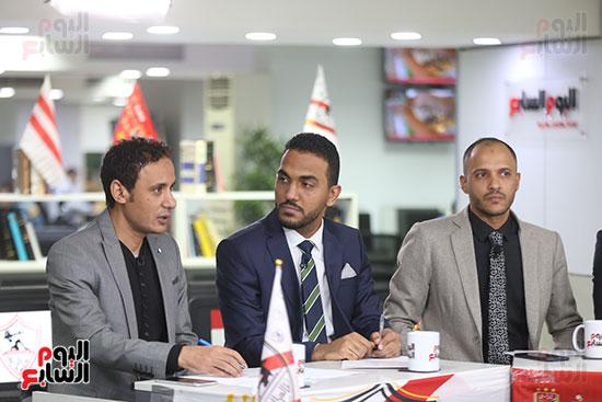 أجواء احتفالية داخل تلفزيون اليوم السابع (11)