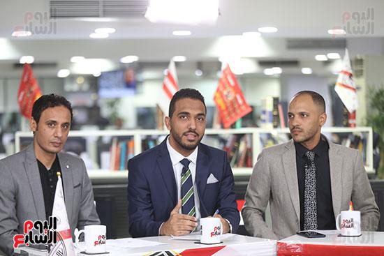 أجواء احتفالية داخل تلفزيون اليوم السابع (9)