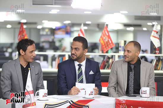 أجواء احتفالية داخل تلفزيون اليوم السابع (5)