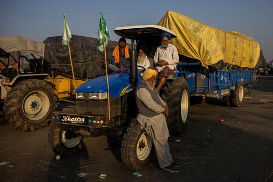 اعتصام بالجرارات في دلهي