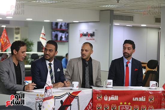 أجواء احتفالية داخل تلفزيون اليوم السابع (14)
