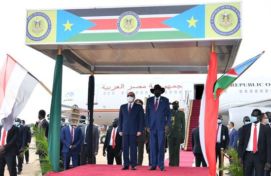 الرئيس عبد الفتاح السيسي وسلفا كير  رئيس جنوب السودان  (4)