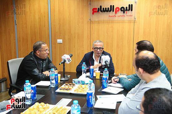 عمرو الجناينى فى زيارته لليوم السابع (1)