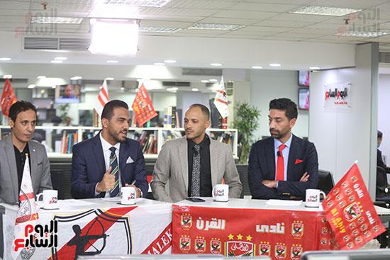 أجواء احتفالية داخل تلفزيون اليوم السابع (10)