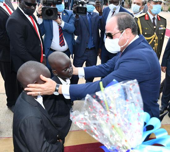 الرئيس عبد الفتاح السيسي وسلفا كير رئيس جنوب السودان (1)