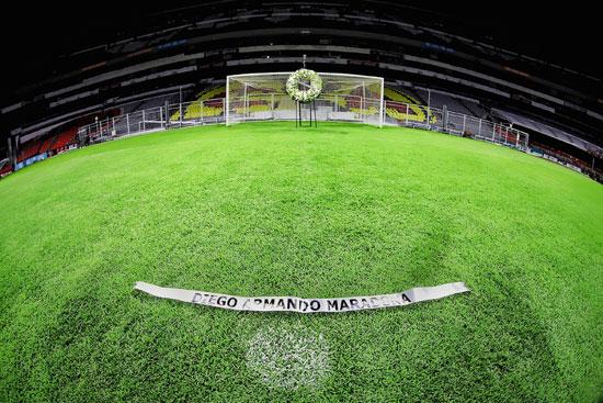 في هذا الملعب أحرز ماردونا هدف تاريخي