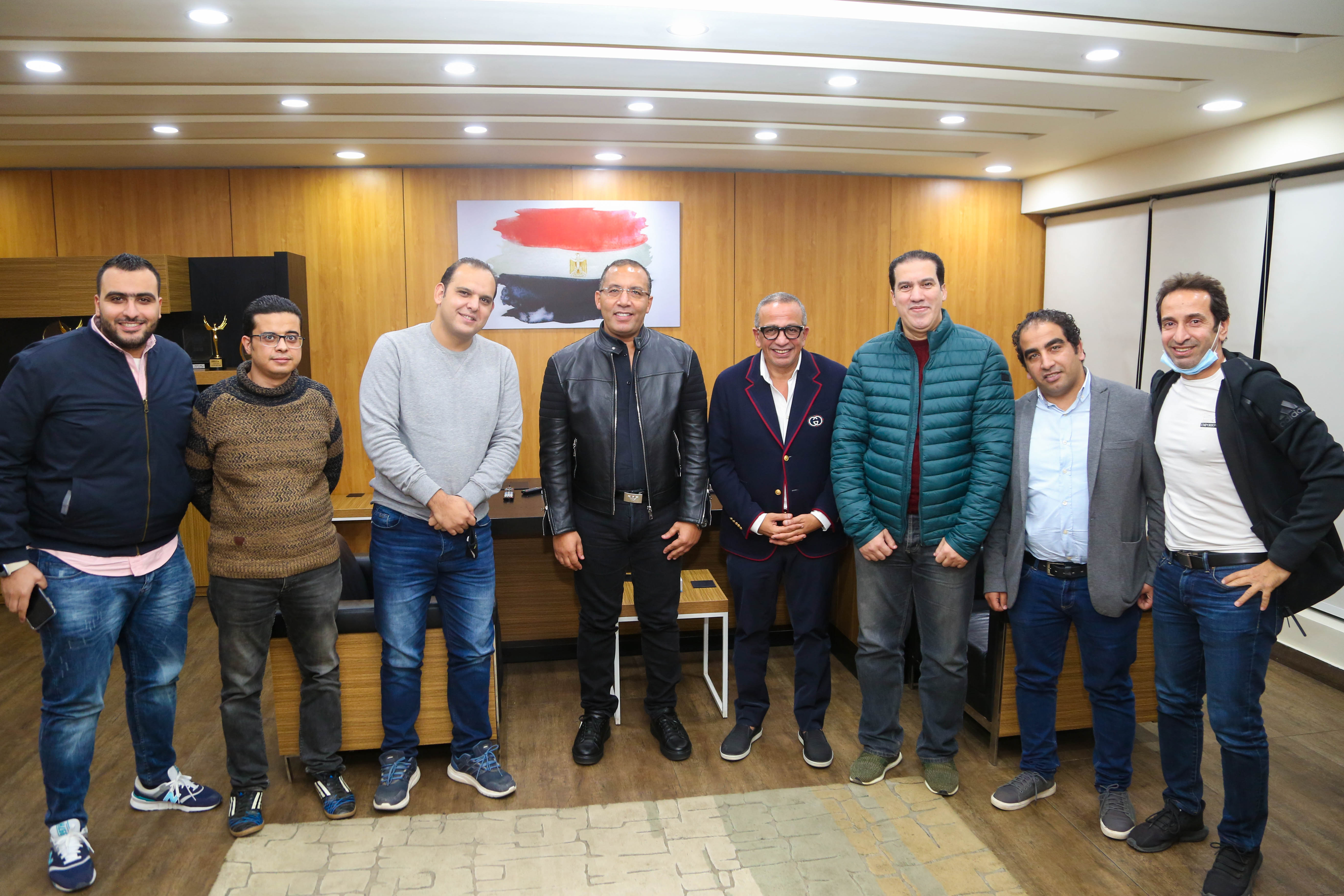خالد صلاح يستقبل عمرو الجناينى