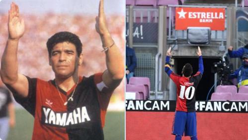 ميسي يخلد ذكري مارادونا