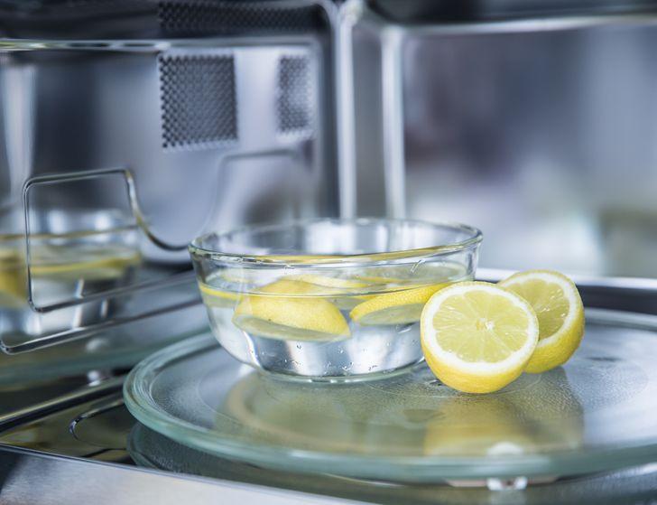 الليمون فى الميكروويف