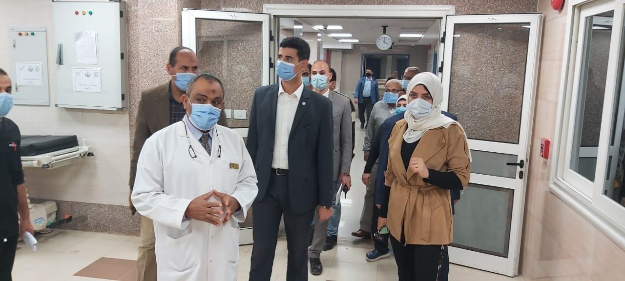 خلال الجولة بمستشفى ناصر العام