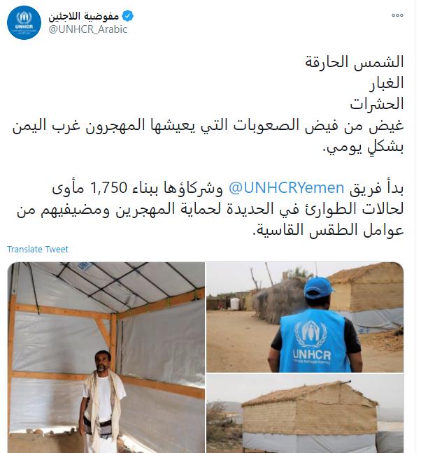 مفوضية اللاجئين على تويتر