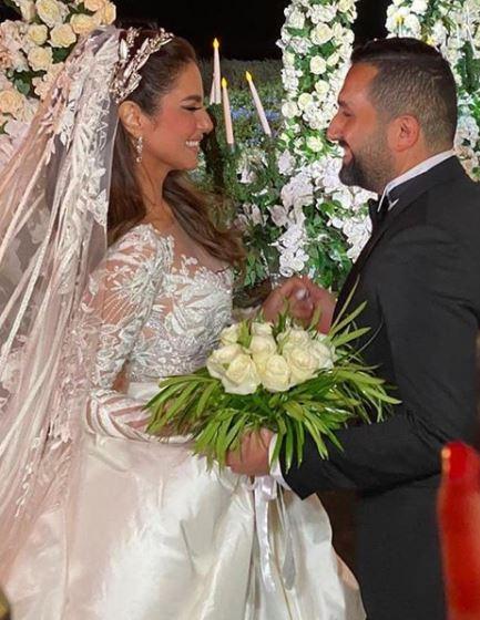 درة مع زوجها  هانى سعد