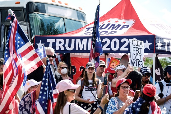 مسيرة دعم الرئيس الأمريكي ترامب