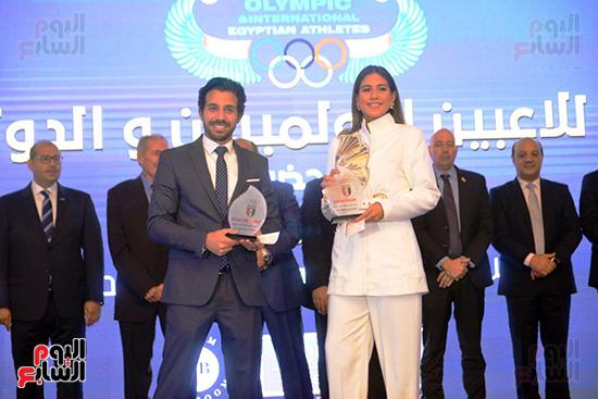توزيع الجوائز للمنتدى الاول للاعبين الدولين والمصرين  (34)
