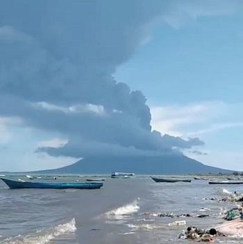 لحظة ثورة البركان