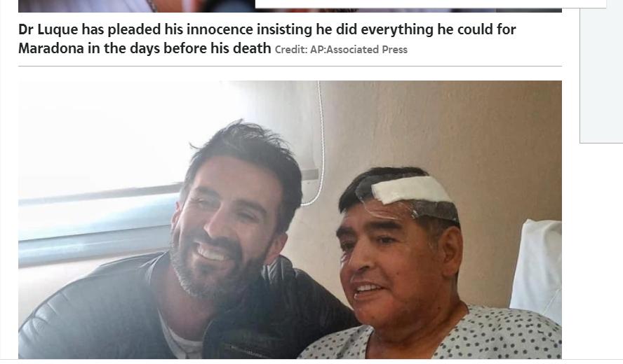 مارادونا مع طبيبه