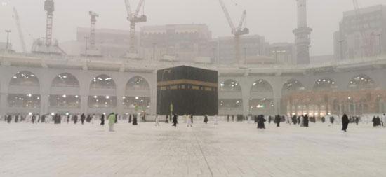 امطار بالمسجد الحرام