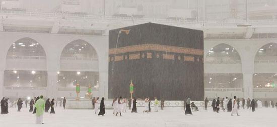 امطار على على المسجد الحرام