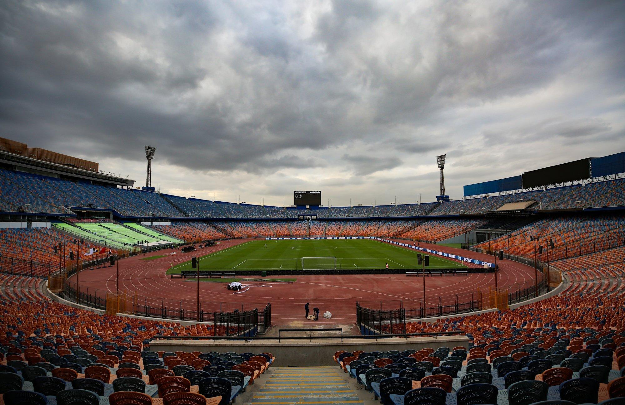 ستاد القاهرة قبل ساعات من مباراة الزمالك والرجاء