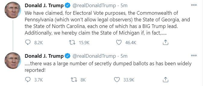 ترامب عبر تويتر