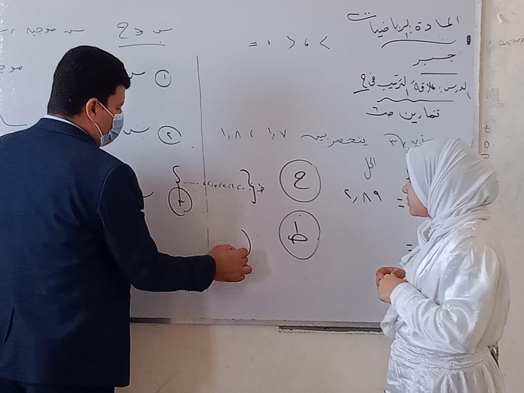 مدير إدارة يوسف الصديق التعليمية بالفيوم يتفقد المدارس (6)