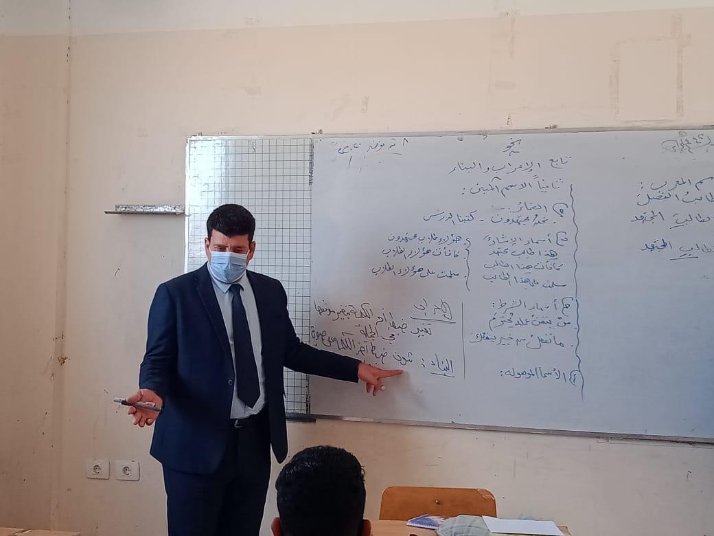 مدير إدارة يوسف الصديق التعليمية بالفيوم يتفقد المدارس (5)