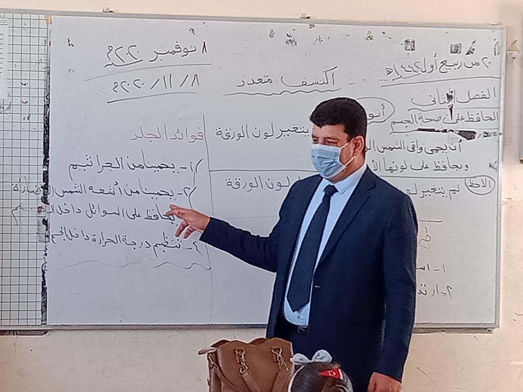 مدير إدارة يوسف الصديق التعليمية بالفيوم يتفقد المدارس (1)