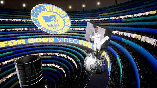 2020-11-08T205742Z_873372741_RC28ZJ9D1PLY_RTRMADP_3_AWARDS-MTV-EMA-S