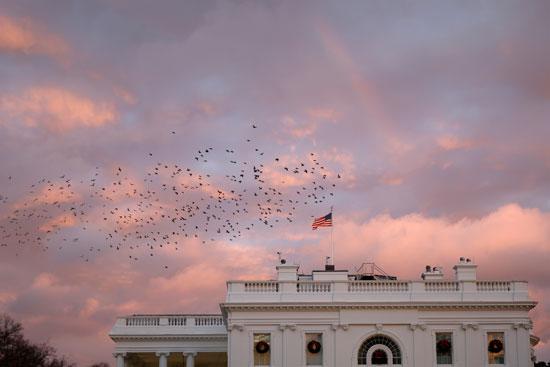قوس قزح يتعامد فوق البيت الأبيض