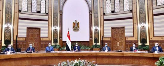 الرئيس السيسي مع الوفد العراقى (7)