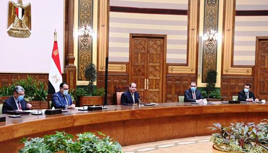الرئيس السيسي مع الوفد العراقى (2)