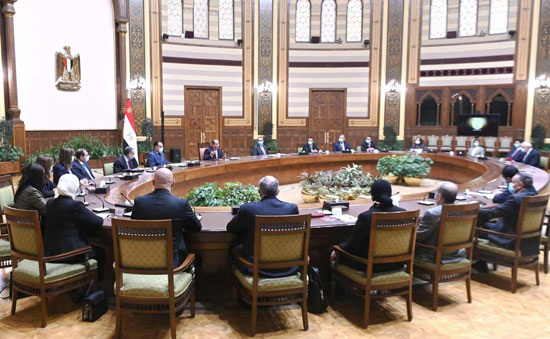 الرئيس السيسي مع الوفد العراقى (5)