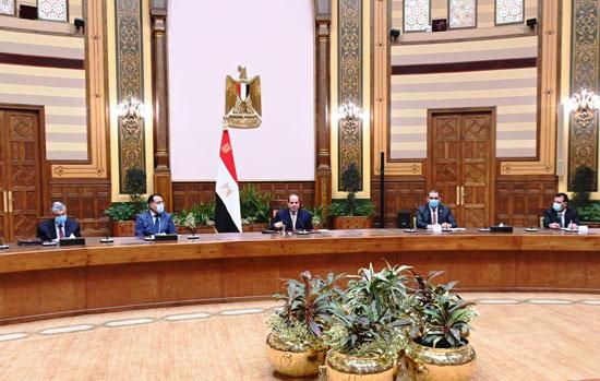 الرئيس السيسي مع الوفد العراقى (4)