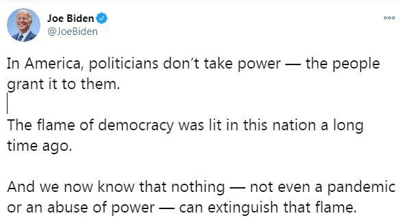 Biden on Twitter