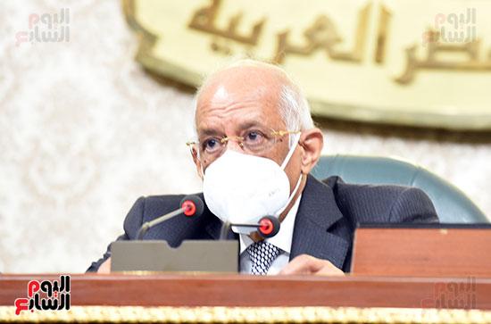 الدكتور على عبد العال رئيس مجلس النواب خلال الجلسه الاخيرة