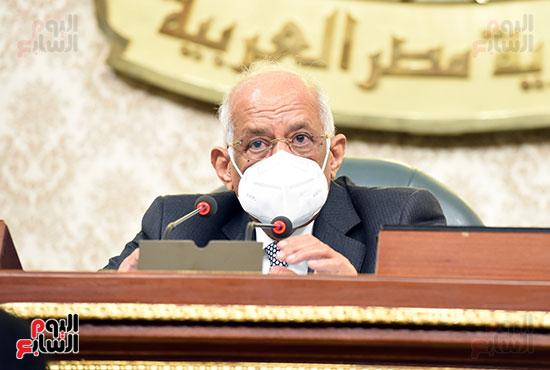 الدكتور على عبد العال رئيس مجلس النواب خلال الجلسه
