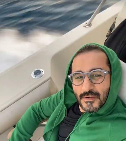 النجم أحمد حلمي  في رحلة صيد
