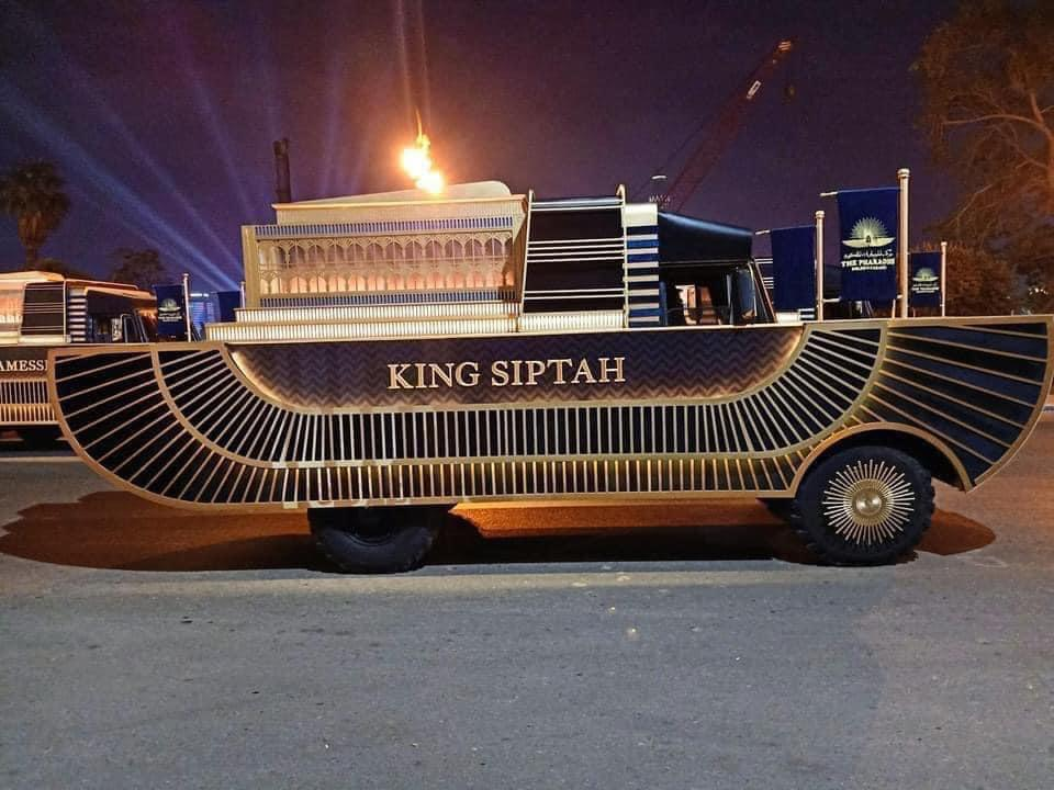 جانب من بروفة نقل المومياوات الملكية حول مسلة ميدان التحرير