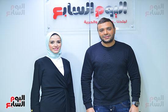 رامى صبرى وجيرمين مذيعة نشرات اليوم السابع