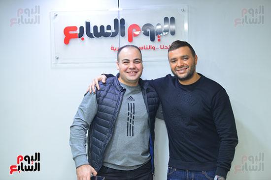 رامى صبرى وعمرو صحصاح رئيس قسم الفن