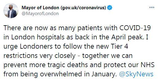 Mayor of London on Twitter