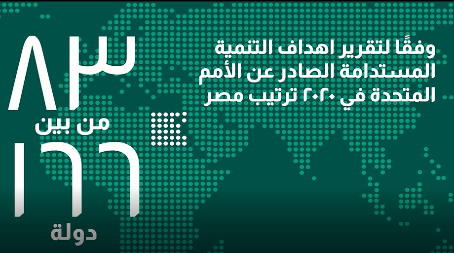 مرتبه مصر وفقا لتقرير اهداف التنميه