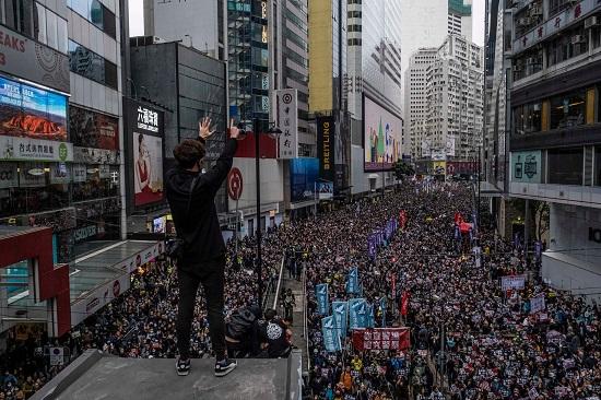تظاهرات مطالبة للديمقراطية في الصين