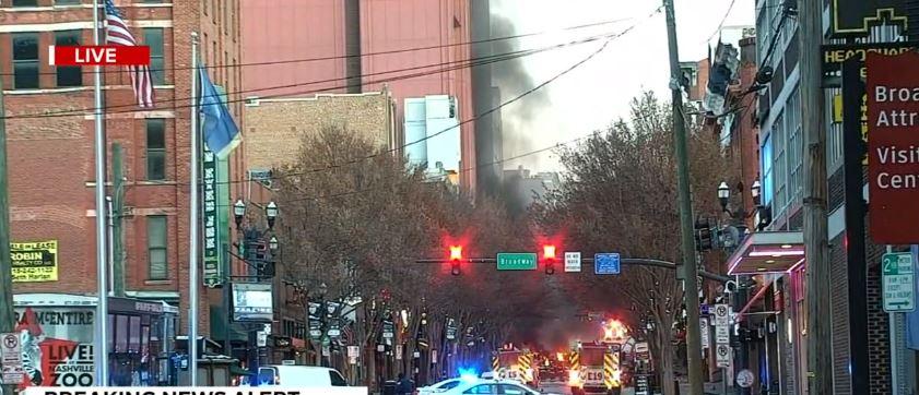 The smoke rises heavily