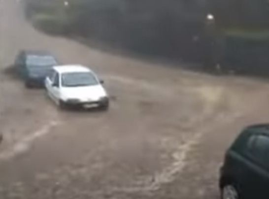 Sinking cars in Portugal