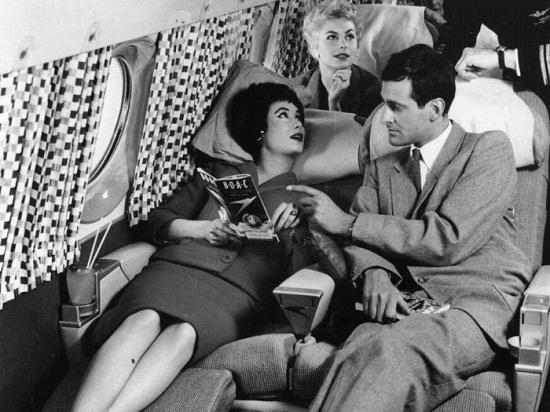 Inside the plane in 1950