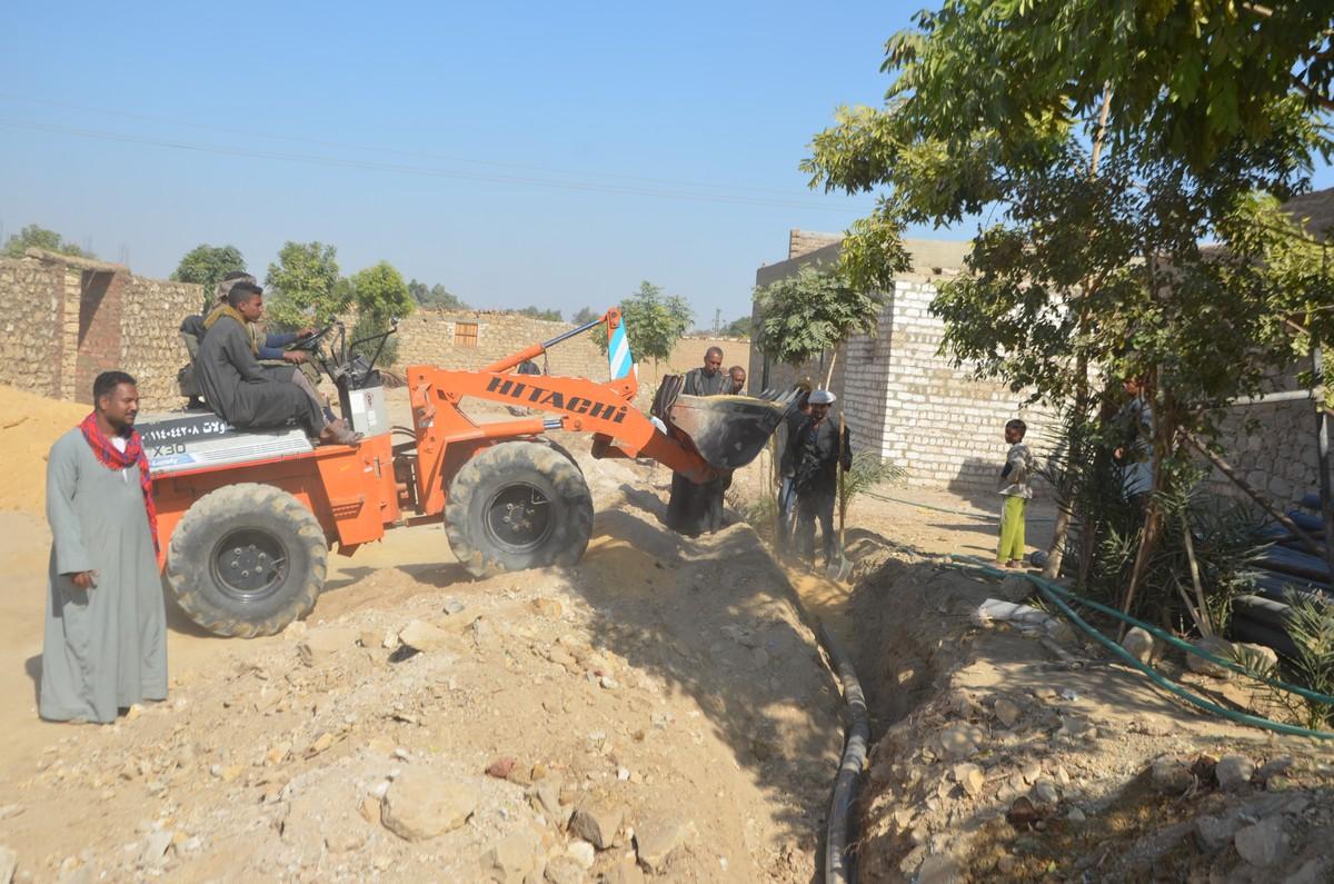 أعمال تطوير قرى اسنا ضمن مبادرة الرئيس