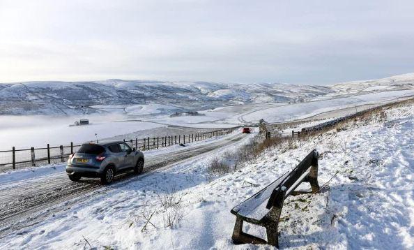 هطول الثلوج في بريطانيا