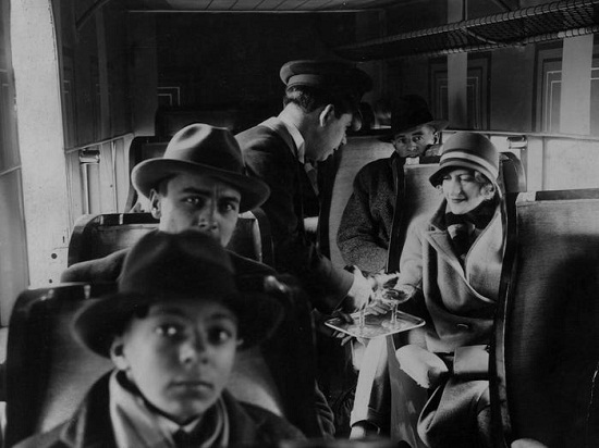 A picture inside the plane in 1920